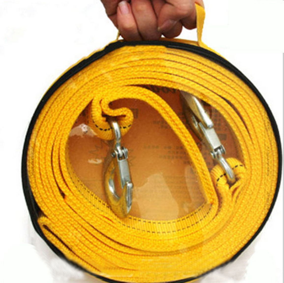 3M 3 Tons Nylon Car Tow Rope Tow Strap Heavy Duty Metal Hooks Emergency Recovery(China (Mainland))