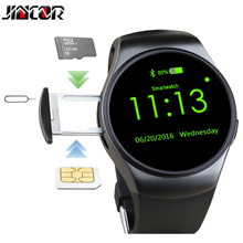 JINCOR 2017 kw18 Bluetooth Smart Watch Life Waterproof 3g SIM GPS Sport smart watches Round For windows phone Android IOS