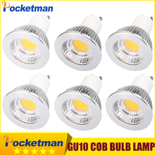 15W 10W 7W GU10 COB LED Bulb 220V Led Spot Light GU10 Spotlight Bulb Lamp Light Gu10 Led Dimmable Super Bright AC85v-265v 6pcs