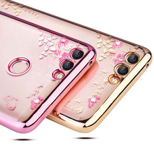 Buy Huawei P Smart Case Silicone Glitter Flower Bling Diamond Back Cases Huawei P Smart Cover Soft TPU Crystal PSmart Funda for $2.30 in AliExpress store