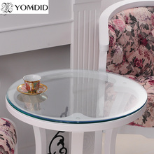 Transparency PVC Round Tablecloth Soft Glass Table cloth Waterproof Oilproof Home Kitchen Dining Room Placemat Pad Dia 60-110cm(China)