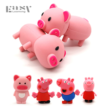 Real Easy Learning Cartoon USB 2.0 Pink Pig Usb Flash Drives 4G 8G 16G Pen Drive Cute Model 32G 64G Memory Stick PenDrives