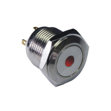 1619 16mm Flat round head momentary pin terminal dot lamp sealed push button switch IB16A-P10Y-D(China)