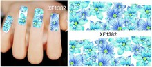 New 1 Sheet Fashion French Design Water Transfer Tips Nail Art Decorations Nail Sticker Manicure Nail Decal Nail Tools