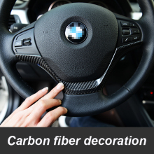 Carbon fiber M power Motosports car style car steering wheel sticker for BMW 116i 118i 316i 320i