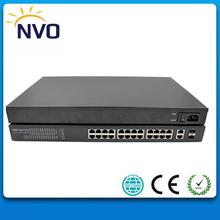 24 Port 100Mbps PoE Switch with 2 gigabit Combo (SFP) Slots(China)