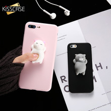 KISSCASE Squishy Cat Soft Phone Case for iPhone 5s SE 6 6s Cute Case for iPhone 8 7 6s 8 plus 3D Doll Phone Accessories Capa NEW(China)