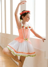 orange kids children Scotland modern dance dress Ballet Dress Bailarina Balet tap jazz dance costume broadway leotard