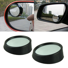 2016 New Hot Driver 2PCS Side Wide Angle Round Convex Car Blind Spot Mirror Adjustable &Wholesale