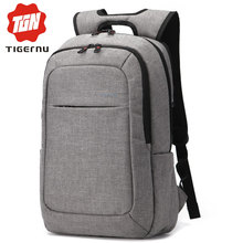 2017 Tigernu Men mochila Laptop Backpack Women Waterproof Canvas Business Laptop Bags 15.6inch Notebook Bag For Teenagers(China)
