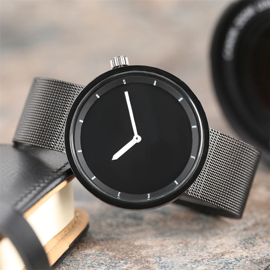 YISUYAแฟชั่นลำลองผู้ชายนาฬิกาอะนาล็อกควอตซ์ฉลามสีดำสแตนเลสตาข่ายวงสร้างสรรค์นาฬิกาข้อมือท... 5