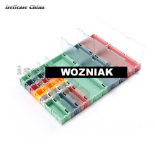 Wozniak 5pcs 2017 Component box IC chip Motherboard parts box patch can be spliced to remove objects Screw tool storage box