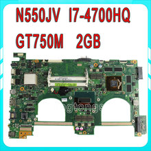 Original for ASUS G550JK Q550JV N550JV Laptop motherboard i7 SR15E CPU N550JV MAIN BOARD REV 2.0 60NB00K0-MB9110 100% Tested