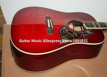 Wholesale Guitars Sunburst Hummingbird Electric Acoustic Guitar with EQ High Quality HOT