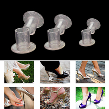 100Pair/ Lot Heel Stopper Silvery High Heeler Antislip Silicone Heel Protectors Stiletto Dancing Covers Bridal Wedding Party