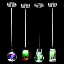 Modern Bulb Jar Cup Sphere Style Glass Plant Pendant Light Lamp Bulb