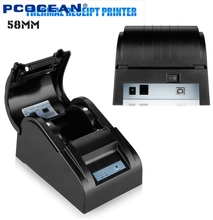 USB/Ethernet Pos Printer 58mm Thermal Receipt Printer for Supermarket Bank Restaurant Printing Speed 90mm/s