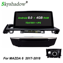 "10,25 ""ips TDA7851 Android 8,0 Octa Core 4 ГБ + 32 ГБ dvd-плеер gps ГЛОНАСС карта RDS радио Wi-Fi Bluetooth для MAZDA 6 2017 2018(China)"