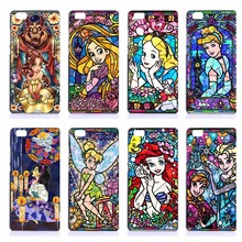 Pretty Princess Pattern Hard PC Phone Cases For Huawei Ascend P7 P8 P9 Lite P9 Plus PC Hard Shell Cell Phone Back Covers Fundas