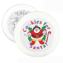 1PC/LOT.Paint unfinished Christmas plate,Christmas crafts,Xmas cake tray,Christmas toys,Xmas gift,25.5x2.5cm