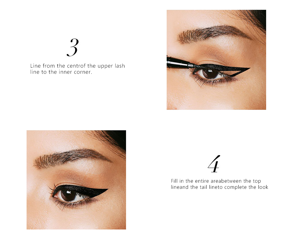 O.TWO.O Liquid Eyeliner Pencil Black Waterproof Professional Lasting Makeup Eye Liner Pen Pencil Easy To Wear Cosmetic Tools 5