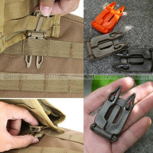 5 Pcs Molle Strap EDC Outdoor Equipment Camping Backpack Bag Webbing Connecting Buckle Clip one inch webbing