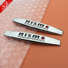 2pcs High quality nismo MOTORSPORTS Car Fender side Emblem Badge Decal rear bumper trunk Sticker