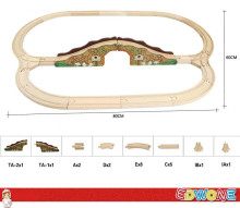 Thomas and Friends --1Set 21PCS Double Lake Thomas Train Wooden Track Railway Color Bridge Track  For Thomas Biro Train