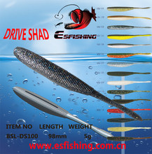 "Fishing Equipment Wholesale 24pcs Esfishing Drive Shad 4"" Fishing lure Soft Bait Iscas Artificiais Pesca Carp Pike Trout(China)"