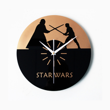 Creative STAR WARS Large digital wall Clock Vinyl Record Theme Darth Vader Clock 3D Hanging kitchen Watch Duvar Saat Home Decor