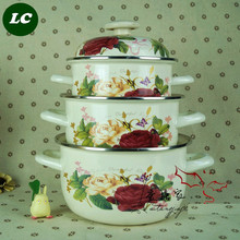 FREE SHIPPING casserole set cooking enamel pot set ceramic cookware set 20cm 22cm 24cm enameled-cookware-set *(China)