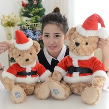 Hot Lovely 25-45cm Teddy Bear Plush Soft Animal Stuffed Christmas Teddybear Toy For Girls Baby Kids Lover Best Gift Good Quality(China)
