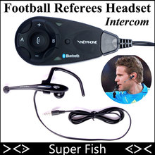 Vnetphone Football Referees Headset Intercom 5 Users 1200m Same Time BT Full Duplex Talking Interphone Suit To Football Referee