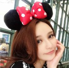 Bow Kids Adult Minnie Mickey Mouse Ears Headband Birthday Party Decoration Kid Minnie Mickey Mouse Bachelorette Party Supplies