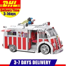 Xingbao 08004 Genuine 1000Pcs Technic Series The Ice Cream Car Set Building Blocks Bricks Children Educational Toys Model Gifts(China)
