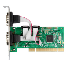 IOCrest Good Quality 2 Ports DB-9 Serial (RS-232 COM) PCI Controller Card Support Low Profile Bracket Best Price