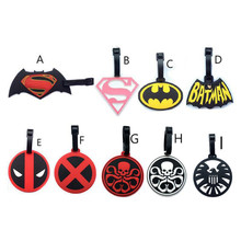 New Marvel's The Avengers Suitcase Luggage Tags Batman ID Address Holder Baggage Label Silica Gel Identify Travel Accessories
