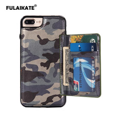 "FULAIKATE Camouflage Case for iPhone 7 Plus Card Bag Back Cover for iPhone 7Plus Army Green Soft Phone Protective Cases 5.5""(China)"