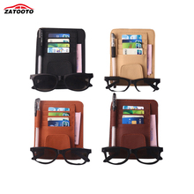 Auto Car Sun Visor Organizer Pouch Bag Card Storage Glasses Holder Multi-Purpose Storage Bag Car Organizer Car Styling