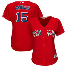 MLB Women's Boston Red Sox Dustin Pedroia Alternate Red Plus Size Cool Base Player Jersey(China)