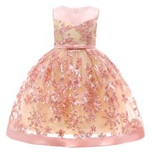 Flower Girl Dresses For Wedding Pageant Birthday Dress for Girls Toddler  Junior Party Princess Girl Dress 74b1fc1b504c
