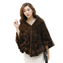 New Spring women Fashion Genuine Knitted Mink Fur Scarf New Natural Fur Genuine Mink Fur Shawl Lady Fur Scarves