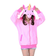 Women's Hoodies Sweatshirts Autumn winter cartoon Girl hoodies Stitch dinosaur panda unicorn Pikachu animal hoodie sweatshirt(China)