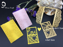 METAL CUTTING DIES love heart grid lace frame rectangle Scrapbook card album paper craft home decorate embossing stencil cutter