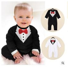 Baby boy suit The latest version of the gentleman ha garments Spring model climb clothes Baby jumpsuit