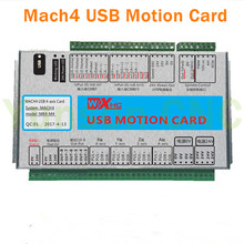 Mach4 4Axis Motion control card USB Port 2000Khz pluse 16input 8output IO for  3/4 axis CNC Router/Robot/Milling Machine