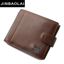 Brand Design Top Quality Split Leather Big Size New Men Short Wallet Clutch Bag With Coin Pocket Luxury Bifold Purse Men wallets(China)