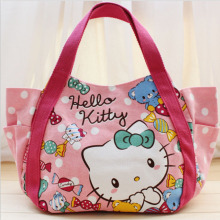 Hello Kitty Women Handbag Classic Cartoon Canvas Messenger Bags Pattern Handmade Personalized Crossbody Bags For Women Clutch(China)