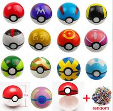 13Styles toys for children 1Pcs Pokeball + 1pcs Free Random Figures Inside Anime Kids Action Figures Toys toys for children gift