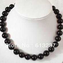 Fashion Black carnelian 8mm Onyx agat Round Beads Natural Stone Chain Strand Choker Necklace For Women Rope Jewels 18inch MY4065